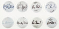 Golf Collectibles:Autographs, Golf Greats Single Signed Golf Balls Lot of 8....