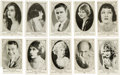 Non-Sport Cards:Sets, 1920's American Caramel Actors and Actresses Collection (90). ...