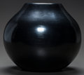 American Indian Art:Pottery, A SANTA CLARA BLACKWARE JAR. Nathan Youngblood. c. 1978...