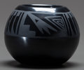 American Indian Art:Pottery, A SANTA CLARA BLACKWARE JAR. Margaret Lou Gutierrez...