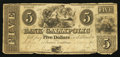 Obsoletes By State:Ohio, Gallipolis, OH- The Bank of Gallipolis $5 Nov. 9, 1839. ...