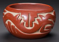 American Indian Art:Pottery, A SANTA CLARA CARVED REDWARE JAR. Teresita Naranjo . c....