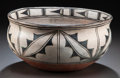 American Indian Art:Pottery, A COCHITI POLYCHROME DOUGH BOWL. c. 1920...