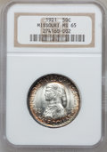 Commemorative Silver, 1921 50C Missouri MS65 NGC....