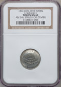 Civil War Patriotics, 1863 United Country -- Reverse Double Struck Off Center -- MS62NGC. Fuld-360/436e, R.8....