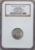 Civil War Patriotics, 1863 Now and Forever MS63 NGC. Fuld-92/440e, R.8....