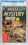 Golden Age (1938-1955):Horror, House of Mystery #1 (DC, 1952) CGC FN/VF 7.0 Off-white to whitepages....