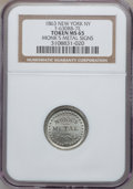 Civil War Merchants, 1863 Monk's Metal Signs, New York, NY, MS65 NGC. Fuld-NY630BB-7e,R.9....