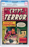 Golden Age (1938-1955):Superhero, Crypt of Terror #18 (EC, 1950) CGC VF- 7.5 Off-white pages....