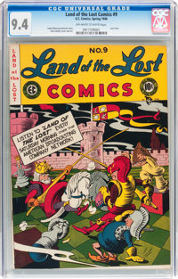Land of the Lost Comics #9 (EC, 1948) CGC NM 9.4 Off-white to white pages