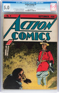 Golden Age (1938-1955):Superhero, Action Comics #4 (DC, 1938) CGC VG/FN 5.0 Cream to off-white pages....