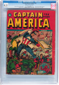 Golden Age (1938-1955):Superhero, Captain America Comics #nn (Timely, 1942) CGC VG+ 4.5 Off-white to white pages....