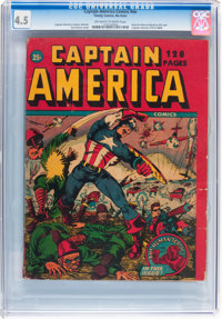 Captain America Comics #nn (Timely, 1942) CGC VG+ 4.5 Off-white to white pages