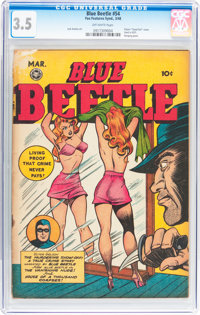 Blue Beetle #54 (Fox Features Syndicate, 1948) CGC VG- 3.5 Off-white pages