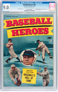 Baseball Heroes #nn (Fawcett Publications, 1952) CGC VF/NM 9.0 Off-white to white pages