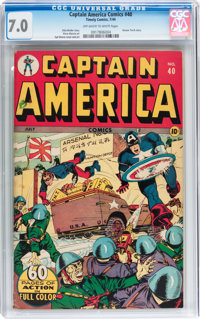 Captain America Comics #40 (Timely, 1944) CGC FN/VF 7.0 Off-white to white pages
