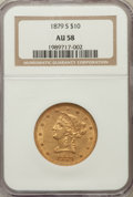 Liberty Eagles: , 1879-S $10 AU58 NGC. NGC Census: (200/111). PCGS Population(52/64). Mintage: 224,000. Numismedia Wsl. Price for problem fr...