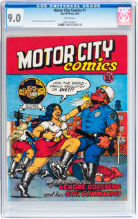 Motor City Comics #1 First Printing (Rip Off Press, 1969) CGC VF/NM 9.0 White pages