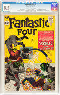 Silver Age (1956-1969):Superhero, Fantastic Four #2 (Marvel, 1962) CGC VF+ 8.5 Cream to off-white pages....