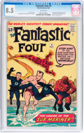 Silver Age (1956-1969):Superhero, Fantastic Four #4 (Marvel, 1962) CGC VF+ 8.5 White pages....