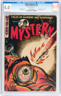 Golden Age (1938-1955):Horror, Mister Mystery #12 (Aragon, 1953) CGC VG 4.0 Off-white pages....