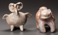 Pre-Columbian:Ceramics, TWO ZOOMORPHIC FIGURES. c. 200 BC - 200 AD... (Total: 2 Items)