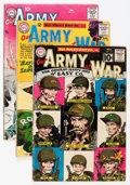 Golden Age (1938-1955):War, Our Army at War Group (DC, 1956-64) Condition: Average GD/VG....(Total: 21 Comic Books)