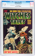 Golden Age (1938-1955):Horror, Witches Tales #23 (Harvey, 1954) CGC VF- 7.5 Off-white to whitepages....