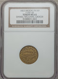 Civil War Merchants, 1863 Daniel Williams, Grocer, Brooklyn, NY, MS65 NGC.Fuld-NY95F-4b, R.9....
