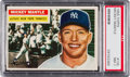 Baseball Cards:Singles (1950-1959), 1956 Topps Mickey Mantle #135 PSA NM 7....