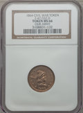 Civil War Patriotics, 1864 Our Army MS66 NGC. Fuld-47/332d, R.8....