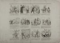 [Political Cartoon]. Series of Engraved Images Depicting Andrew Jackson and Martin Van Buren as Don Quixote and Sancho P...