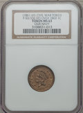 Civil War Patriotics, (1861-65) Our Navy -- Overstruck on an 1863 Cent -- MS63 NGC.Fuld-53/336do, R.7....