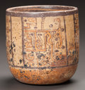 Pre-Columbian:Ceramics, A MAYA PAINTED VESSEL. c. 600 - 900 AD...