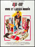 """Movie Posters:James Bond, Live and Let Die (United Artists, 1973). French Grande (47"""" X62.5""""). James Bond.. ..."""