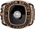 Hockey Collectibles:Others, 1970 Boston Bruins Stanley Cup Championship Ring Presented toDallas Smith....