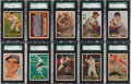 Baseball Cards:Lots, 1957 Topps Baseball SGC 96 Mint 9 Collection (21). ...