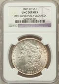 Morgan Dollars: , 1885-CC $1 -- Obverse Improperly Cleaned -- NGC Details. Unc. NGCCensus: (19/9131). PCGS Population (47/18373). Mintage: 2...