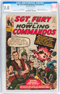 Silver Age (1956-1969):War, Sgt. Fury and His Howling Commandos #1 (Marvel, 1963) CGC GD 2.0 Off-white to white pages....