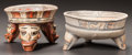 Pre-Columbian:Ceramics, TWO COSTA RICA PAINTED TRIPOD BOWLS. c. 600 - 1200 AD... (Total: 2Items)