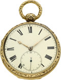 Timepieces:Pocket (pre 1900) , Joseph Johnson Liverpool 18k Gold Fusee With 15 Second DetachedLever Escapement, circa 1820. ...