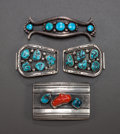 American Indian Art:Jewelry and Silverwork, THREE SOUTHWEST SILVER AND STONE JEWELRY ITEMS... (Total: 3 Items)
