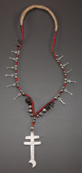 American Indian Art:Jewelry and Silverwork, A GUATEMALAN SILVER AND TRADE BEAD NECKLACE. c. 1980...