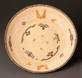 American Indian Art:Baskets, A CHEMEHUEVI POLYCHROME TRAY. c. 1920...