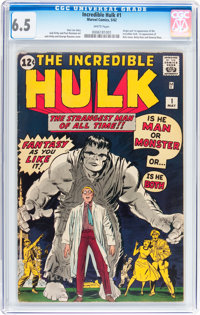 The Incredible Hulk #1 (Marvel, 1962) CGC FN+ 6.5 White pages