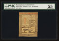 Colonial Notes:Pennsylvania, Pennsylvania October 1, 1773 20s PMG About Uncirculated 55.. ...