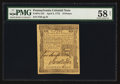 Colonial Notes:Pennsylvania, Pennsylvania April 3, 1772 18d PMG Choice About Unc 58 Net.. ...