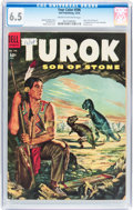 Golden Age (1938-1955):Miscellaneous, Four Color #596 Turok (Dell, 1954) CGC FN+ 6.5 Cream to off-white pages....
