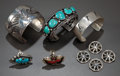 American Indian Art:Jewelry and Silverwork, A GROUP OF SOUTHWEST JEWELRY ITEMS... (Total: 9 )