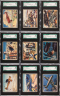 "Non-Sport Cards:Sets, 1939 R173 Gum Inc. ""The World In Arms"" SGC Graded Complete Set(48). ..."